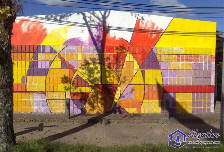 El mural de Aldo Difilipo en San Gregorio de Polanco