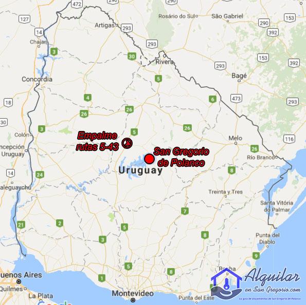 Cómo llegar a San Gregorio de Polanco desde cualquier parte del país.